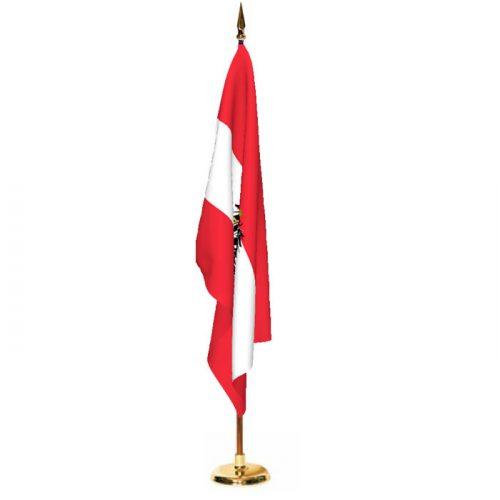 Indoor Austria with Seal Ceremonial Flag Set