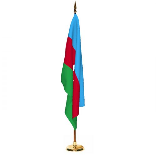 Indoor Azerbaijan Ceremonial Flag Set