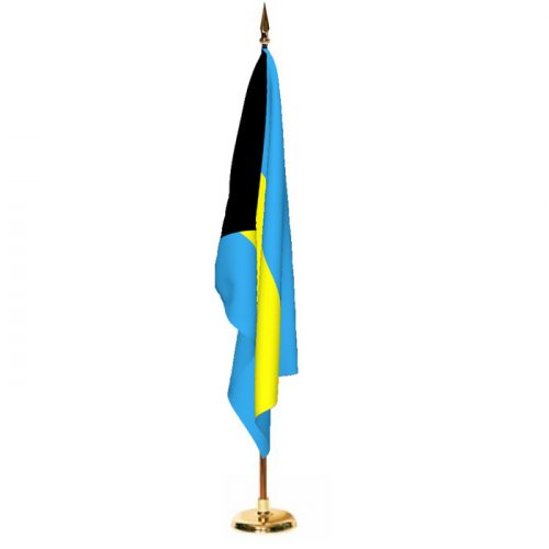 Indoor Bahamas Ceremonial Flag Set