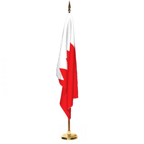 Indoor Bahrain Ceremonial Flag Set