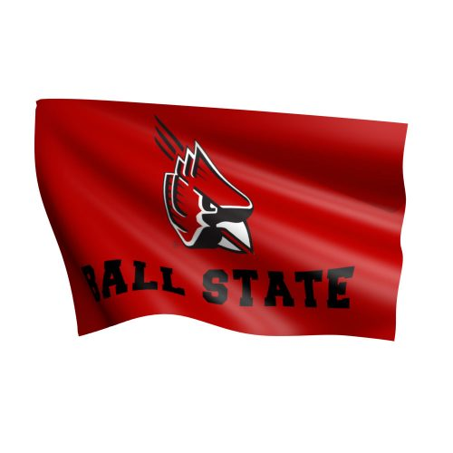 Ball State University Polyester Flag