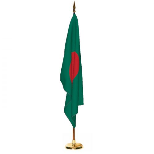 Indoor Bangladesh Ceremonial Flag Set