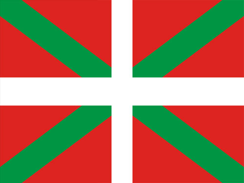 4in x 6in Basque Lands Flag with Staff and Spear