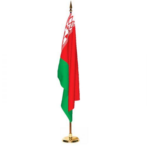Indoor Belarus Ceremonial Flag Set