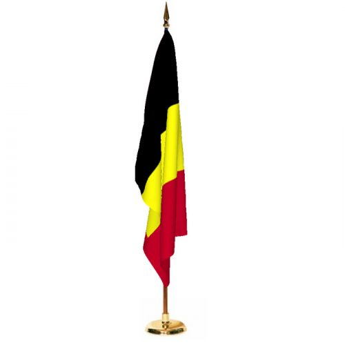 Indoor Belgium Ceremonial Flag Set