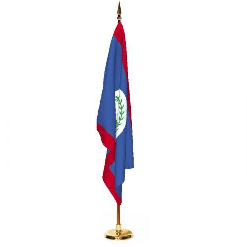 Indoor Belize Ceremonial Flag Set