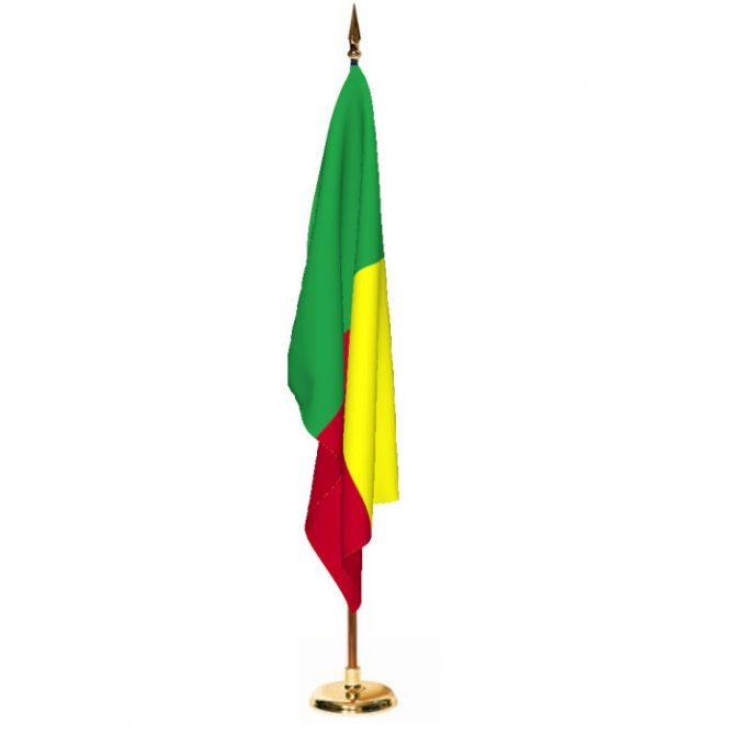Indoor Benin Ceremonial Flag Set