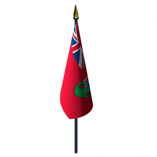 4in x 6in Bermuda Flag with Staff and Spear