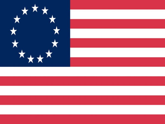 4in x 6in Betsy Ross Flag with Staff and Spear