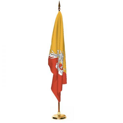 Indoor Bhutan Ceremonial Flag Set