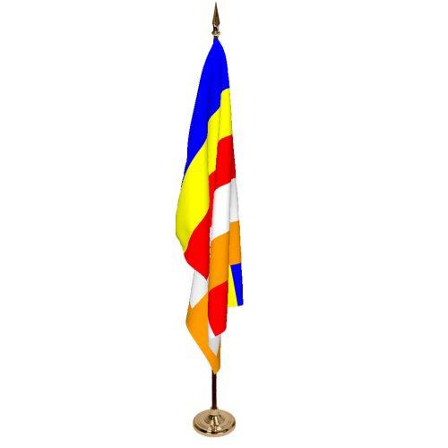 Indoor Buddhist Ceremonial Flag Set
