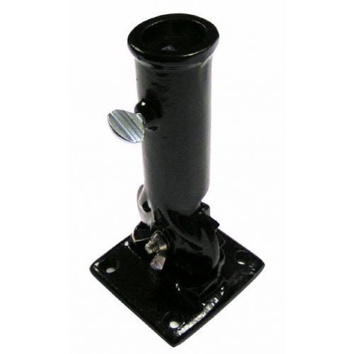 Black Cast Aluminum Adjustable Flagpole Bracket