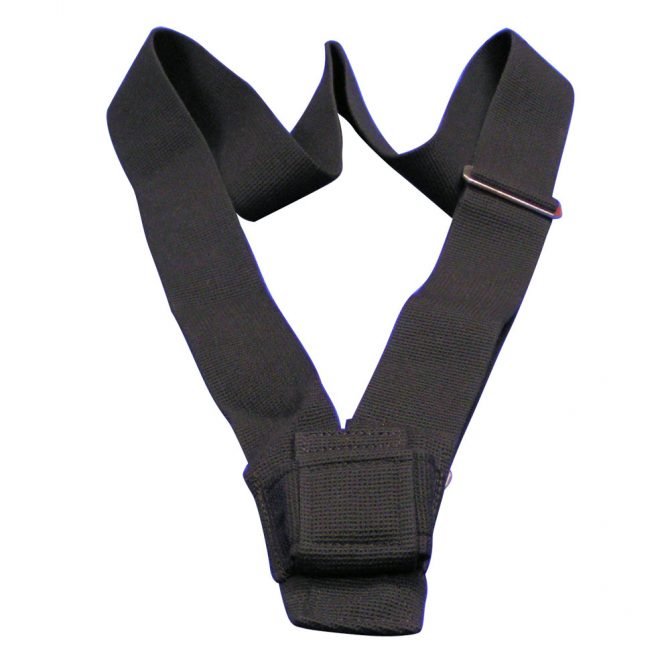 Single Strap Black Webbed Parade Carrying Belt