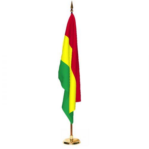 Indoor Bolivia Ceremonial Flag Set