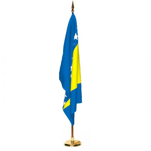 Indoor Bosnia and Herzegovina Ceremonial Flag