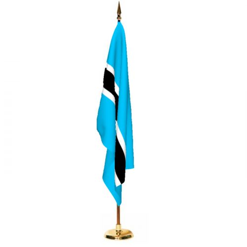 Indoor Botswana Ceremonial Flag Set