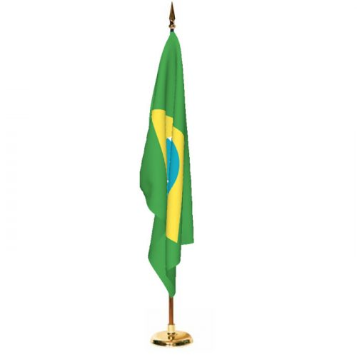 Indoor Brazil Ceremonial Flag Set