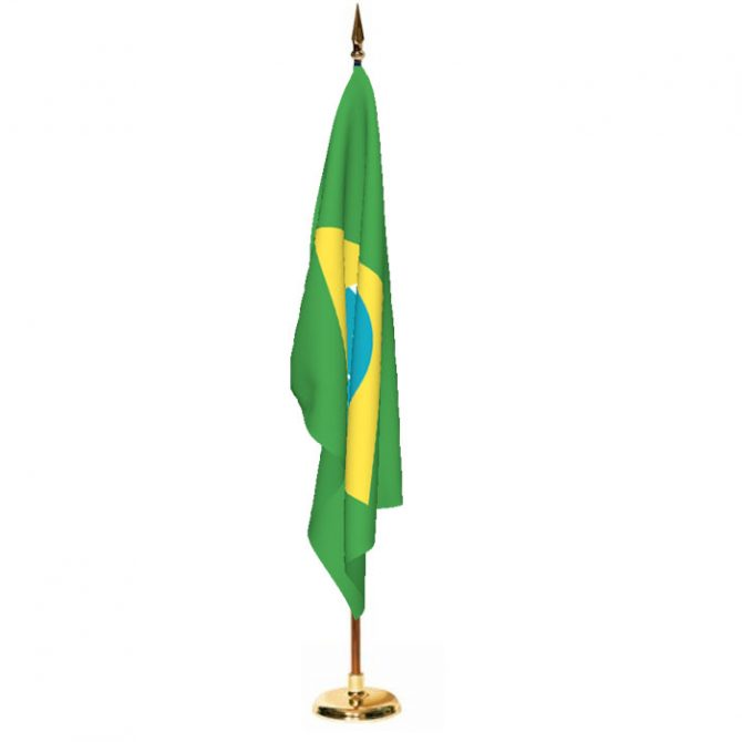 Indoor Brazil Ceremonial Flag Set