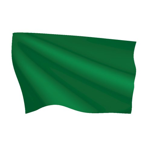 Bright Green Flag