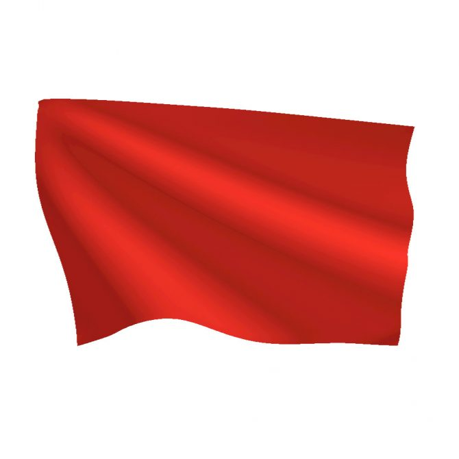 Bright Red Flag