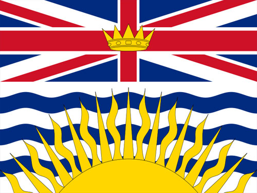 4in x 6in British Columbia Flag with Staff and Spear