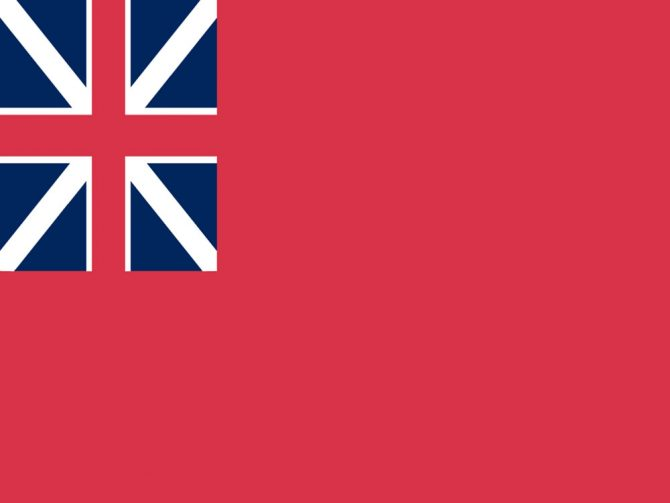4in x 6in British Red Ensign Flag with Staff and Spear