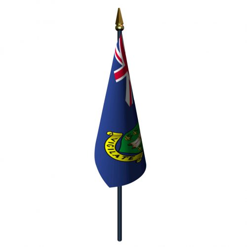 4in x 6in British Virgin Islands Flag with Staff and Spear