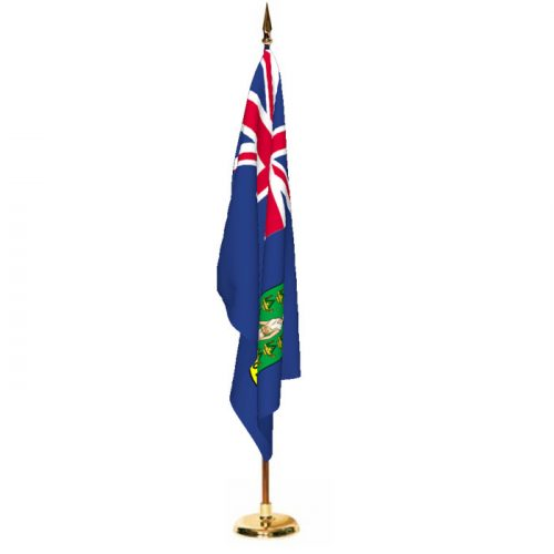 Indoor British Virgin Islands Ceremonial Flag Set