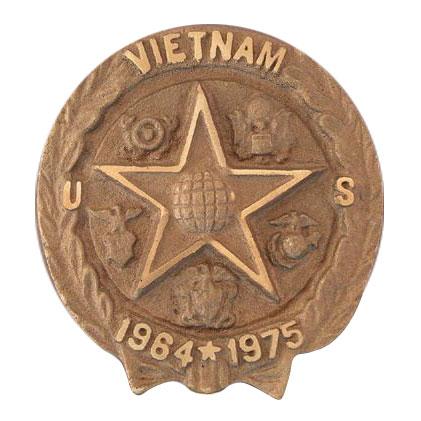 Vietnam War Cast Bronze Grave Marker