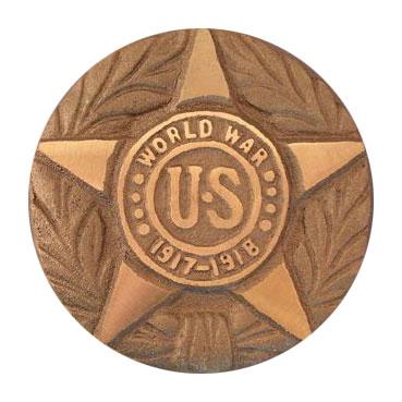 US World War I Cast Bronze Grave Marker