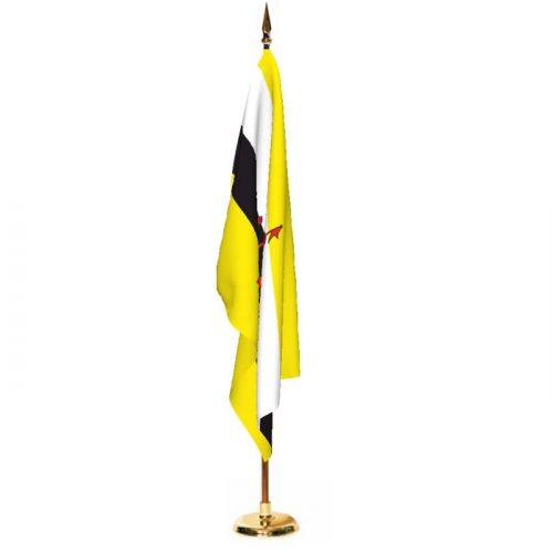 Indoor Brunei Ceremonial Flag Set
