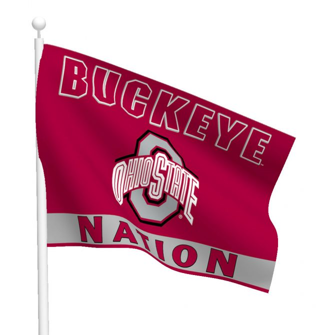 Ohio State University Polyester Buckeye Nation Flag