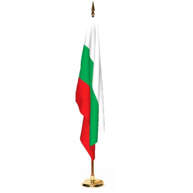 Indoor Bulgaria Ceremonial Flag Set