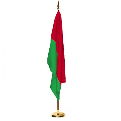 Indoor Burkina Ceremonial Flag Set