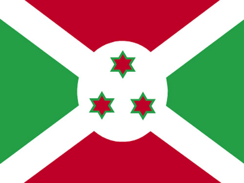 4in x 6in Burundi Flag with Staff and Spear
