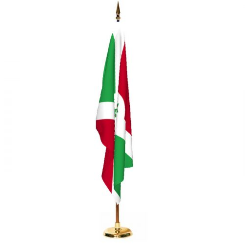 Indoor Burundi Ceremonial Flag Set
