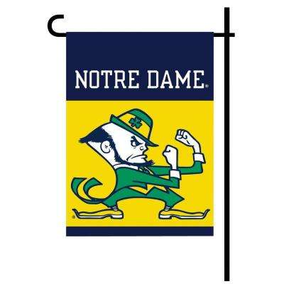 Notre Dame Leprechaun Garden Flag