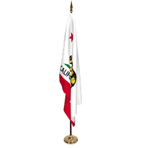 Indoor California Ceremonial Flag Set