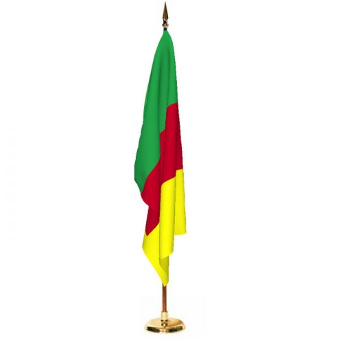 Indoor Cameroon Ceremonial Flag Set