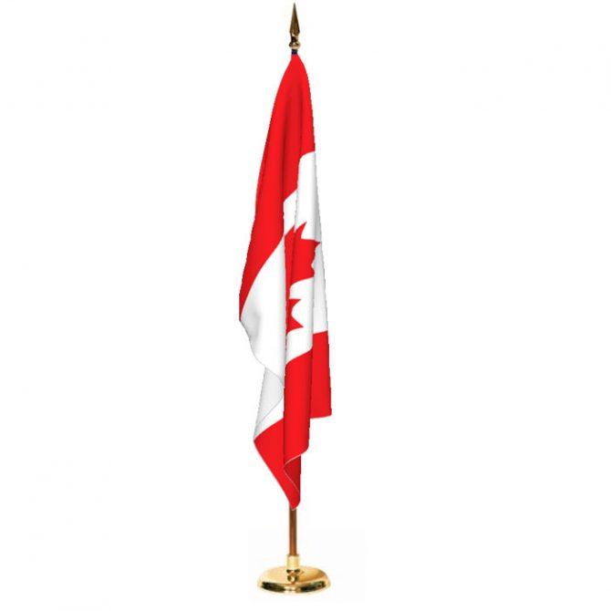 Indoor Canada Ceremonial Flag Set