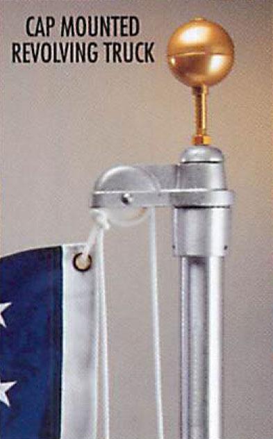 Continental External Halyard Aluminum Flagpole
