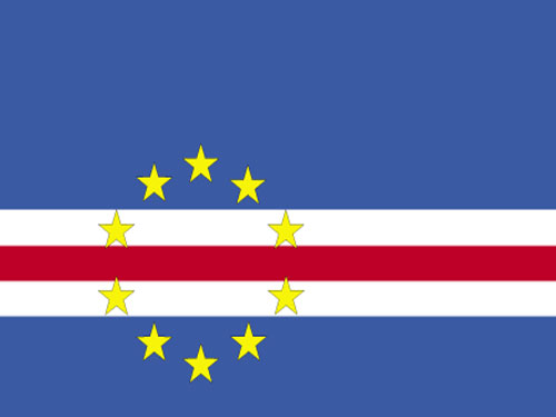4in x 6in Cape Verde Flag with Staff and Spear