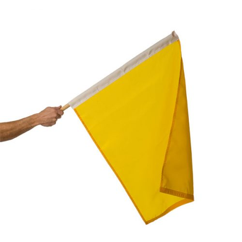 24in x 30in Mounted Yellow Caution Flag