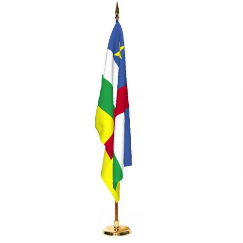 Indoor Central African Republic Ceremonial Flag Set