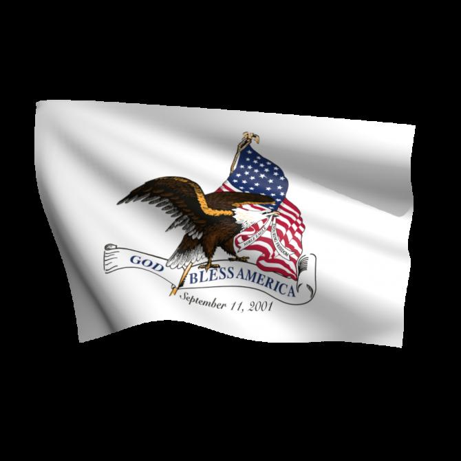 God Bless America 911 Flag