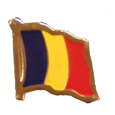 Chad Flag Lapel Pin