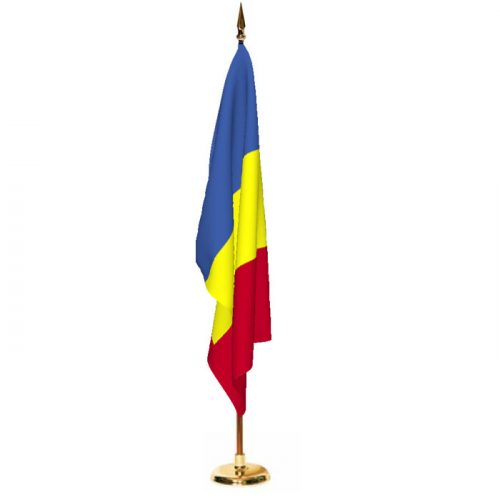 Indoor Chad Ceremonial Flag Set