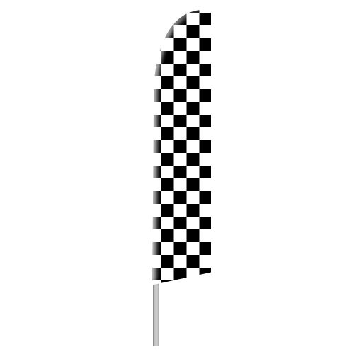 Black and White Checkered Tall Flag