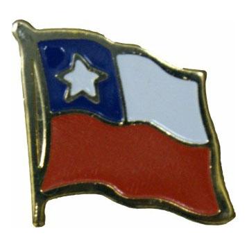 Chile Flag Lapel Pin