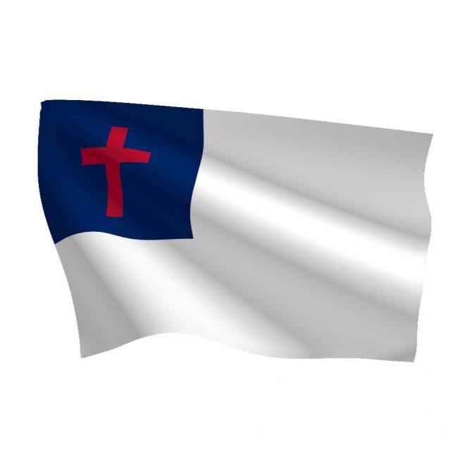Polyester Christian Flag